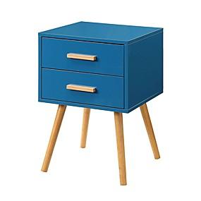 preiswerte Beistelltische-moderner, klassischer Nachttisch im Mid-Century-Stil in blauer Ausführung