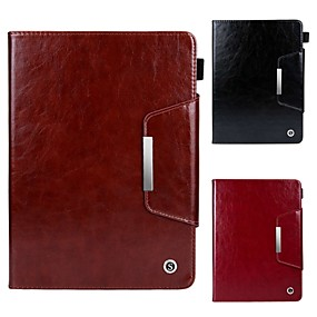 cheap iPad case-Case For Apple iPad Air / iPad (2018) Magnetic / Flip / with Stand Full Body Cases Solid Colored Hard PU Leather for iPad Pro 9.7'' / iPad (2017) / iPad Air 2/Mini 1/2/3/4