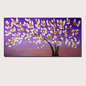 povoljno Slike za cvjetnim/biljnim motivima-Hang oslikana uljanim bojama Ručno oslikana - Sažetak Cvjetni / Botanički Comtemporary Moderna Uključi Unutarnji okvir