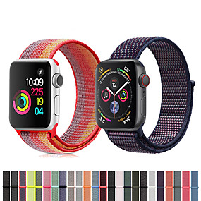 cheap Phones & Accessories-Nylon Loop Watch Band Wristband Wrist Strap for Apple Watch Series 4/3/2/1 Smart Watch