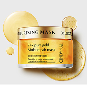 cheap Skin Care-Mask for the Face Skin Care 24K Pure Gold Moist Repair Face Mask Hydration Moisturizing Shrink Pores Sleeping Mask