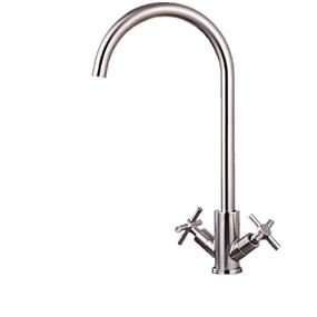 preiswerte Meist verkaufte Armaturen-Armatur für die Küche - Einhand Ein Loch gebürsteter Stahl Hoch / High-Arc Andere Moderne Kitchen Taps