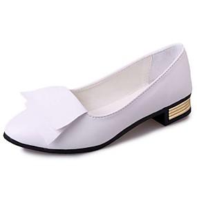 voordelige Damesinstappers & loafers-Dames Loafers & Slip-Ons Blok hiel PU Lente & Herfst / Zomer Wit / Zwart / Rood / Feesten & Uitgaan