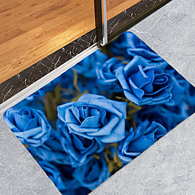 voordelige Matten & Tapijten-1pack Modern Badmatten Coral Velve Bloemenprint Badkamer Nieuw Design / Creatief