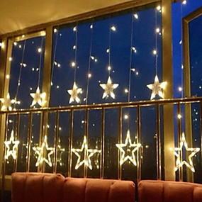 povoljno Unikatna rasvjeta-2.5m 138 leds ledenica vodio zvijezda vila svjetla božićni vijenac zavjese niz svjetla zvijezda svjetiljka svatove nove godine ukras