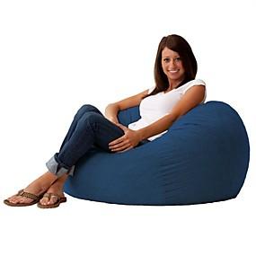 preiswerte Stühle-Himmelblau weiche Wildleder 3-Fuß-Sitzsack Wohnzimmer Schlafzimmer Liege
