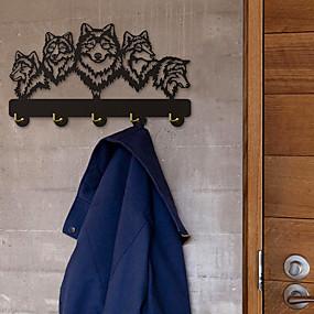 preiswerte Haken-wolf dekorativer wandhalter wolf family clothes wall hook garderobe