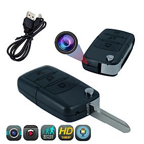 preiswerte CCTV Kameras-1080p 2mp mini wifi drahtlose 3.6mm Linse 166 ° Betrachtungswinkel Innen ip65 wasserdichte Autoschlüsselkettenkamera Webcam-Kamerarecorder Bewegungserkennung Nachtsicht-Fernzugriffskamera