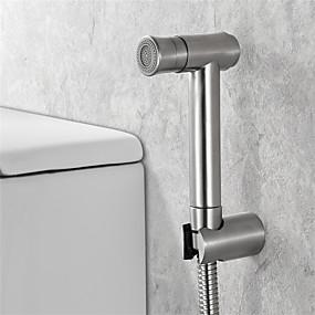 cheap Bidet Faucets-Stainless Steel Toilet Handheld Bidet Set Sprayer Self-Cleaning Shower Head Toilet Bowl Cleaning Supplies Bathroom Cleaning Accessories
