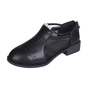 voordelige Damesinstappers & loafers-Dames Loafers & Slip-Ons Blok hiel Netstof Zomer Wit / Zwart / Beige