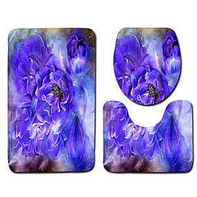 levne Podložky a koberečky-1 sada Klasické Koupelnové podložky 100g / m2 polyesterový elastický úplet Geometrický / Novinka / Květiny kreativita / Neskluzový