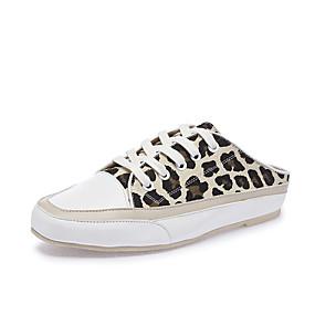 voordelige Damesinstappers & loafers-Dames Loafers & Slip-Ons Comfort schoenen Platte hak Ronde Teen Canvas Informeel / minimalisme Lente zomer Zwart / Groen / Luipaard