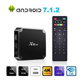 povoljno Discover-x96 mini android tv kutija x96mini android 7.1 pametni tv kutija 2gb 16gb amlogic s905w quad core 2.4ghz wifi android 9.0 1gb8gb
