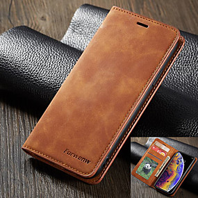 cheap Cases & Covers-Forwenw Leather Case for iPhone SE2020 Leather Case Flip Wallet Cover for iPhone 11 Pro Max Leather Case iPhone X/XS XR Xs Max 7/8 Plus Phone Bag with Card Case