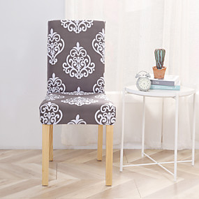cheap Slipcovers-Slipcovers Chair Cover Printed Polyester/ Modern Concise Style/ Classic Grey & White Pattern