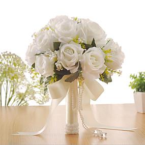preiswerte Hochzeitsblumen-Hochzeitsblumen Sträuße Hochzeit / Besondere Anlässe Stoffe 31-40 cm