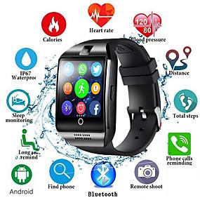 preiswerte Unterhaltungselektronik-Männer der intelligenten Uhr q18s stützen tf sim Kartenstoßmitteilungsantwortanruf-Eignungverfolger bluetooth smartwatch für androides Telefon