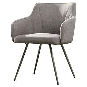 preiswerte Stühle-graue gepolsterte Mitte des Jahrhunderts Polyester niedrige Lehnensesselstahlbeine