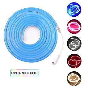 billige Lamper og belysning-KWB 2m Fleksible LED-lysstriper 240 LED SMD3528 1set Varm hvit Hvit Rød Vanntett Kreativ Kuttbar 12 V