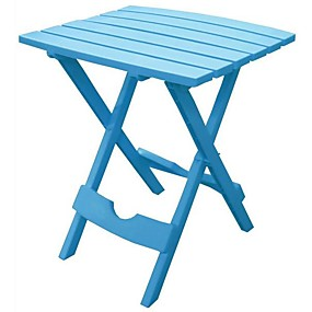 preiswerte Klapptische-Pool blau klappbarer Beistelltisch aus strapazierfähigem Patiomöbelkunstharz