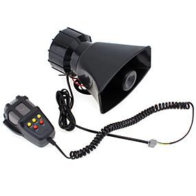 billige Lydanlegg til bilen-7-lyd høyt bilvarsel alarm politi brann sirene luft horn pa høyttaler 12v 100w