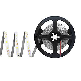 povoljno Svjetlosne trake i žice-5m Savitljive LED trake 300 LED diode SMD 2835 8mm 1pc Toplo bijelo Hladno bijelo Crveno Cuttable Party Povezivo 12 V / Samoljepljiva