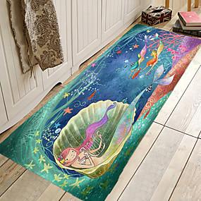 voordelige Matten & Tapijten-1pc Cartoon / Modern Badmatten Coral Velve Creatief / Nieuwigheid 5mm Badkamer Schattig / Anti-slip / Makkelijk schoon te maken