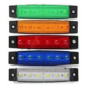 povoljno Svjetla upozorenja-sencart 4kom bijeli kamion strana markera klirens svjetlo ovalni krom 6 vodio 24v