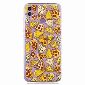 povoljno Maske za mobitele-kućište za huawei honor 8x / huawei p smart (2019) uzorak / prozirna stražnja strana pizza meka tpu za mate20 lite / mate10 lite / y6 (2018) / p20 lite / nova 3i / p smart / p20 pro