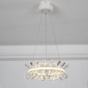 povoljno Viseća rasvjeta-ZHISHU Cirkularno / sputnjik / Kristal Privjesak Svjetla Ambient Light Slikano završi Metal Zatamnjen, New Design, WIFI kontrolu 110-120V / 220-240V Bijela / Zatamnjen daljinskim upravljačem / Wi-Fi