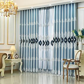 preiswerte Fensterdekoration-Europäisch Verdunkelung Ein Panel Vorhang Wohnzimmer   Curtains / Stickerei