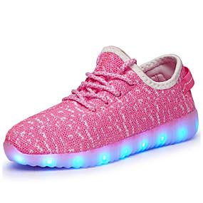 tanie Obuwie i torebki-Dla chłopców LED / Świecące buty / Ładowanie USB Tiul Buty do lekkiej atletyki Migające buty Małe dzieci (4-7 lat) / Wielkie dzieci (7 lat +) Spacery LED / Świecący Czarny / Różowy / Zielony Jesień