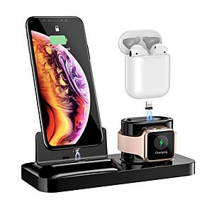 preiswerte Smartwatch Halterungen und Halter-floveme 3 in 1 magnetischer Ladehalter für alle Arten von Handys / Airpods / Apple Watch1234