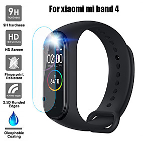 cheap Smartwatch Screen Protectors-Screen Protector For Xiaomi Mi Band 4 Explosion-proof TPU Full Cover Clear Soft Hydrogel HD Screen Protector Film 2 pcs