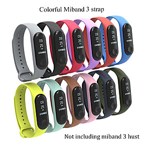 preiswerte Smartwatch-Bands-Silikonhandgelenkbügelwiedereinbau für Zusätze des intelligenten Armbandes mi3 xiaomi MI 3