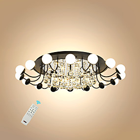 cheap Ceiling Lights & Fans-16 Bulbs UMEI™ 100 cm Crystal / Creative / Dimmable Flush Mount Lights Metal Acrylic Sputnik / Crystal / Novelty Painted Finishes LED / Modern 110-120V / 220-240V / FCC