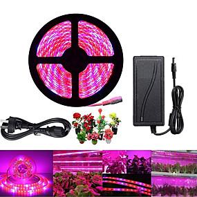 preiswerte LED Pflanzenlampe-zdm 1 satz pflanze wachsen streifen licht 5 mt 5050 wasserdicht vollspektrum für aquarium hydroponische pflanze gemüse garten blumen und 12v6a power