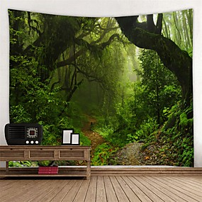 cheap Wall Tapestries-Floral Theme Wall Decor 100% Polyester Modern Wall Art, Wall Tapestries Decoration