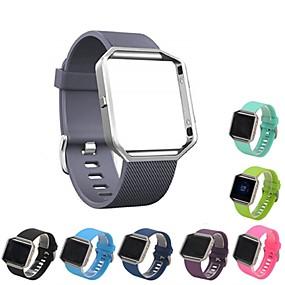 رخيصةأون إكسسوارات الساعات الذكية-حزام إلى Fitbit Blaze فيتبيت عصابة الرياضة سيليكون شريط المعصم