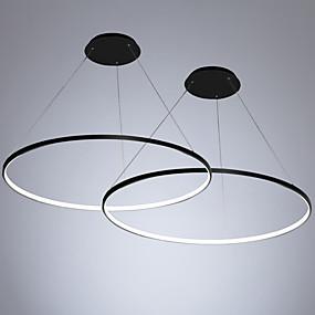 povoljno Lámpatestek-2pcs / lot led40w moderni krug privjesak svjetlo ambijentalno svjetlo oslikana za dnevnu sobu blagovaonica / topla bijela / bijela / dimmable s daljinskim / WiFi pametna kontrola / 110-120v / 220-240v