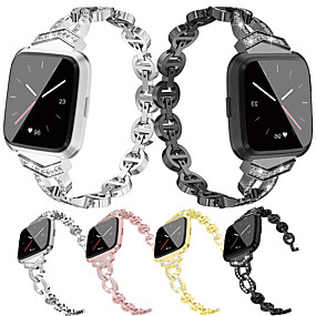 cheap Smartwatch Bands-Watch Band for Fitbit Versa / Fitbit  Versa 2 Fitbit Jewelry Design Stainless Steel Wrist Strap