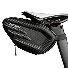 preiswerte Fahrradsatteltaschen-CoolChange 1.5 L Fahrrad-Sattel-Beutel Regendicht Wasserdichter Reißverschluß Stoßfest Fahrradtasche 600D Ripstop Tasche für das Rad Fahrradtasche Radsport Fahhrad