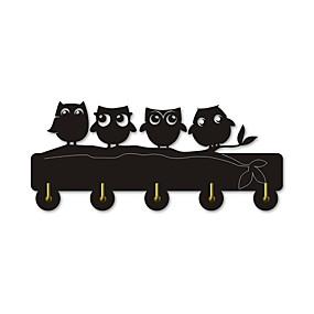 preiswerte Haken-Nachteule Familie Wand Kleiderbügel Haken wildes Tier Fell Haken Handtuch Haken Handtasche Schlüsselring Kleiderbügel Haken Rahmen