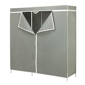 preiswerte Aufbewahrungsmöglichkeiten-60-Zoll-grau tragbaren Kleiderschrank Kleidung Veranstalter Kleiderschrank