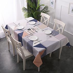 billige Duker-Moderne Antikk Bomull polyesterfiber Kvadrat Cube Duge Geometrisk Mønstret Printer Økovennlig Jul Vannavvisende Borddekorasjoner