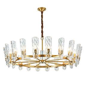povoljno Lámpatestek-ZHISHU Kristal / Podignuti Lusteri Ambient Light Electroplated Crystal Crystal, New Design 110-120V / 220-240V Meleg fehér / Bijela