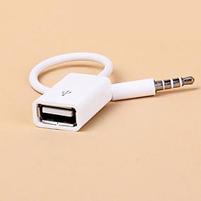 preiswerte KfZ Audio-Auto suv mp3 3.5mm Aux Audio Stecker Buchse auf USB 2.0 Buchse Konverterkabel