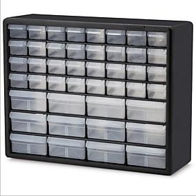 preiswerte Aufbewahrungs-Organizer-Hardware Handwerk Fischerei Garage Lagerschrank in schwarz mit Schubladen