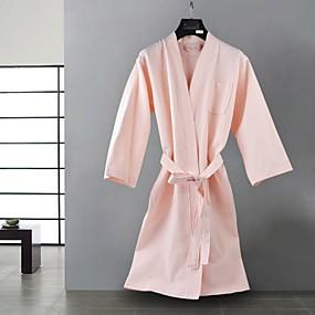 preiswerte Bademäntel-Gehobene Qualität Bademantel, Solide 100% Polyester Bad 2 pcs