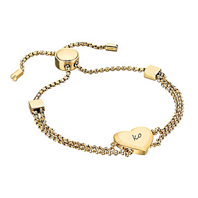 preiswerte Anfängliche Armbänder-Personalisiert Angepasst Armband Edelstahl Klassisch Name Graviert Geschenk Versprechen Festival 1pcs Gold Silber Rotgold / Laser Gravur